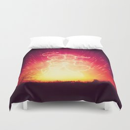 Cosmo + Celeste ( Colorful Cosmological Night Sky Couple in Love ) Duvet Cover
