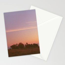 Late sun glow Stationery Cards
