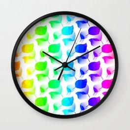Columns Of Color Wall Clock
