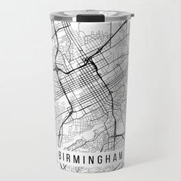 Birmingham Map, Alabama USA - Black & White Portrait Travel Mug