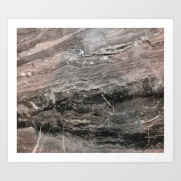Smokey gray marble Art Print