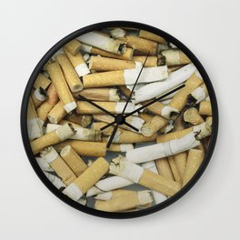 Cigarette butts dirty Wall Clock