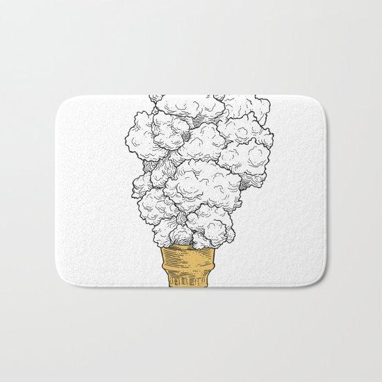 Volcano ice cream Bath Mat
