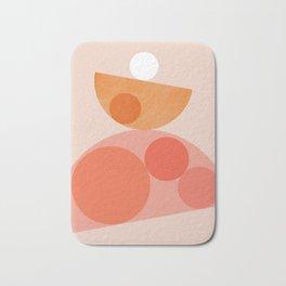 Abstraction_Balance_Round_Minimalism_001 Bath Mat