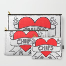I Heart Chips Carry-All Pouch