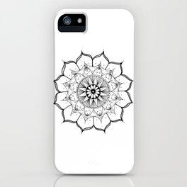 Mandala Star Ink Art iPhone Case