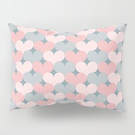 Heart pattern. Pink and gray Pillow Sham