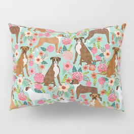 Boxer floral dog breed gifts for boxer lovers pet florals boxers must haves Pillow Sham