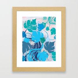 Monstera cavalcade Framed Art Print