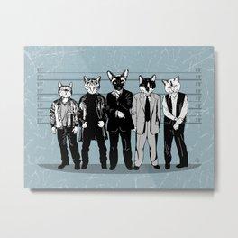 Feline-up Metal Print