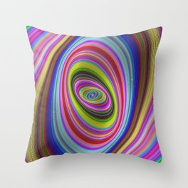 Colorful hypnosis Throw Pillow
