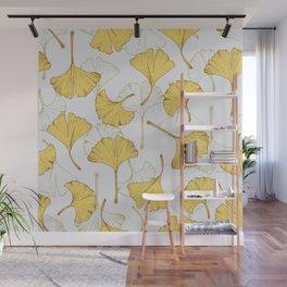 Ginkgo Pattern Wall Mural