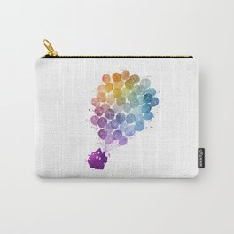 Up! - Watercolor Carry-All Pouch
