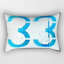 Number 33 Rectangular Pillow