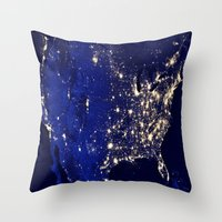 america Throw Pillows featuring America by 2sweet4words Designs