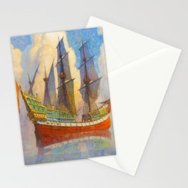 The Golden Galleon, 1922 by Newell Convers Wyeth Stationery Cards