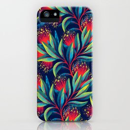 Pohutukawa - Red / Green iPhone Case