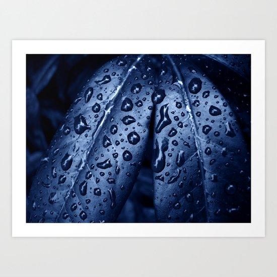 blue rain XII Art Print