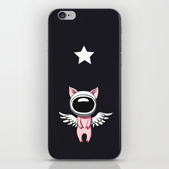 Piglet in Space iPhone & iPod Skin
