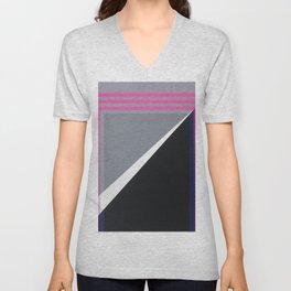 London - pink graphic Unisex V-Neck