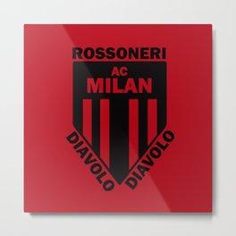 Slogan: Ac Milan Metal Print