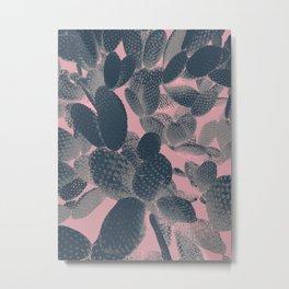 pink negative cactus Metal Print