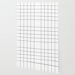 black grid on white background Wallpaper