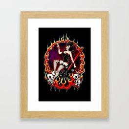 Rockabilly Rockabella (Black) Framed Art Print