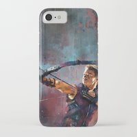 clint barton iPhone & iPod Cases featuring Clint Barton by Wisesnail