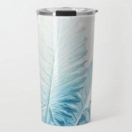Cool Blue Leaves Travel Mug