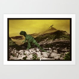 King of the Mountain - Dinosaur Edition Art Print