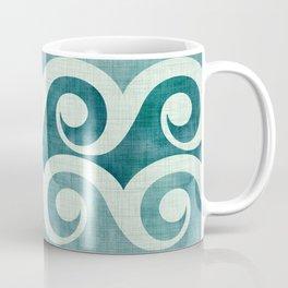 Vintage Waves - Tropical Teal Coffee Mug
