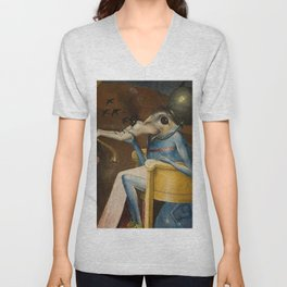 THE GARDEN OF EARTHLY DELIGHTS (detail) - HIERONYMUS BOSCH  Unisex V-Neck
