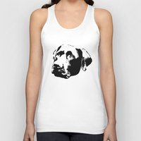 lab Tank Tops featuring Chocolate Lab by MIX INX