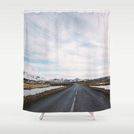 Icelandic Road Shower Curtain