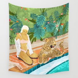 The Wild Side #illustration #painting Wall Tapestry