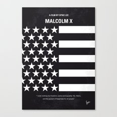No250 My MALCOLM X minimal movie poster Canvas Print