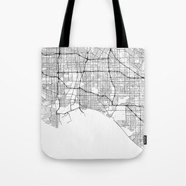 Minimal City Maps - Map Of Long Beach, California, United States Tote Bag