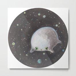 Blob floating in space Metal Print
