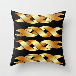 Twisted golden swirls Throw Pillow