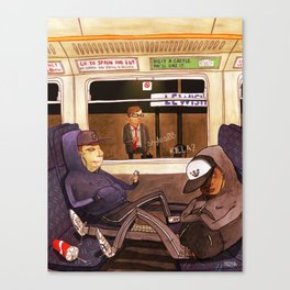 The Last Train Home Canvas Print