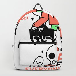 Quarantined Halloween House Party Backpack