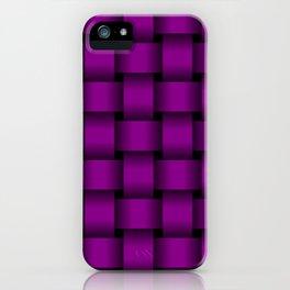 Large Purple Violet Weave iPhone Case
