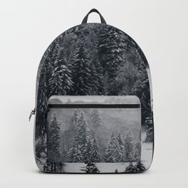 Silent mountain in winter Backpack