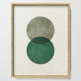 Circle Abstract - Greenery Serving Tray