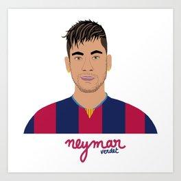 NEYMAR - FC BARCELONE Art Print