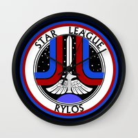 league Wall Clocks featuring Star League by CromMorc