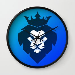 Lion Blue Shade Wall Clock