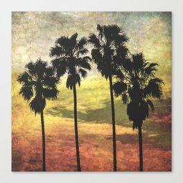 4 Palms Part Deux Canvas Print