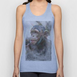 Artistic Animal Young Chimp Unisex Tank Top